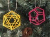 Dodecahedron (100 cc) 3d printed On a Christmas Tree