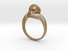 150109 Skull Ring 1 Size 9  3d printed