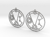 Michelle - Earrings - Series 1 3d printed