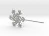 Snowflake #6 Cupcake or Treat Topper Pick 3d printed