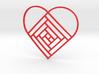 Quilt Block Log Cabin Pendant - Heart Edition 2 3d printed