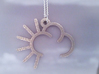 Sunny Cloud - Weather Symbol Pendant 3d printed