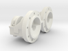 1:16 scale IH 9 bolt Dual Hubs 3d printed