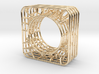LOFF - wire cubic Ring and pendant 3d printed
