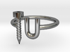 Screw U Ring - Sz 5 3d printed