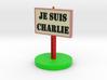 Plate Je Suis Charlie 3d printed