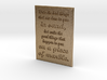 Write the bad things that are done to you 3d printed
