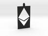 Ethereum Cutout Pendant 3d printed