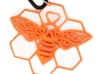 The Bee Pendant 3d printed