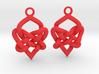 Celtic Heart Knot Earring 3d printed