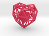 Heart Wireframe Pendant 3d printed Render Pink