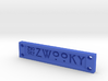 ZWOOKY Style 14 Sample - Clothing label  3d printed
