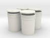 1:6 Scale 5 gal Buckets 4X set 3d printed