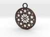 Rose Window Pendant 3d printed