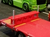 Support-stand Jumbo Trailer 10mm 3d printed Painted in ral 3002. Not included from Shapeways