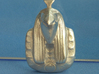 Egyptian God Ra Pendant 3d printed Raw Silver
