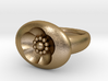 S46 Sm. Signet Ring BSF With Beads 3d printed