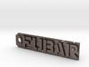Fubar tag or keychain fob 3d printed