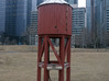 Miniature Railway Water Tower (HO Scale) 3d printed Actual Reference Image