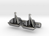 Yacht Cufflinks 3d printed