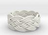 Turk's Head Knot Ring 5 Part X 9 Bight - Size 7.5 3d printed
