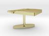 Equatorial Guinea Terrain Cufflink - Flat 3d printed