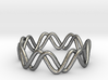 Sine + Cosine Ring (Size 7) 3d printed