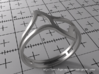 Ring Model E - Size 6 - Silver 3d printed