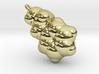 Love Molecule 2-PEA Pendant, Silver 3d printed