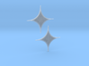 Pair of Parabolic Diamond Earrings 3d printed