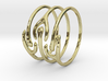 The Ripple Stacked Rings 3d printed