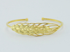 Wheat Bracelet all sizes 3d printed 18k