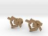 "Hebrew Monogram Cufflinks - ""Daled Daled Bais"" 3d printed"