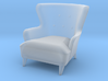 1:48 Wingback Barrel Chair 3d printed