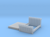 1:48 Tufted Bed (Queen) 3d printed