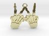 Skeleton Hands V4 Solid Gold 3d printed