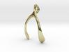 Whishbone pendant 3d printed
