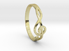 Size 6 G-Clef Ring  3d printed