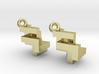 CTK Earrings silver 3d printed