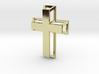 3D Framed Cross Pendant 3d printed