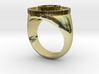 Mechanical Engineering Signet Ring Size 10 3d printed