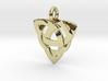 Celtic Knot Necklace Pendant (Inverted Triquetra) 3d printed