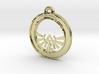 Tri-force Circle-pendant 3d printed
