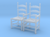 1:48 Pilgrim's Slat Back Chairs 3d printed