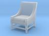 1:48 Contemporary Slipper Chair 3d printed
