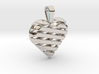 Striped heart pendant 3d printed