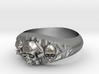 Cutaway Ring With Skulls Sz 8 3d printed