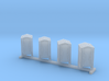 Z Scale Portable Toilet 4pc 3d printed