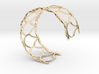 Fish Scale cuff bracelet (small/medium, snug fit) 3d printed