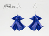 Ribbon Wave Earrings 3d printed